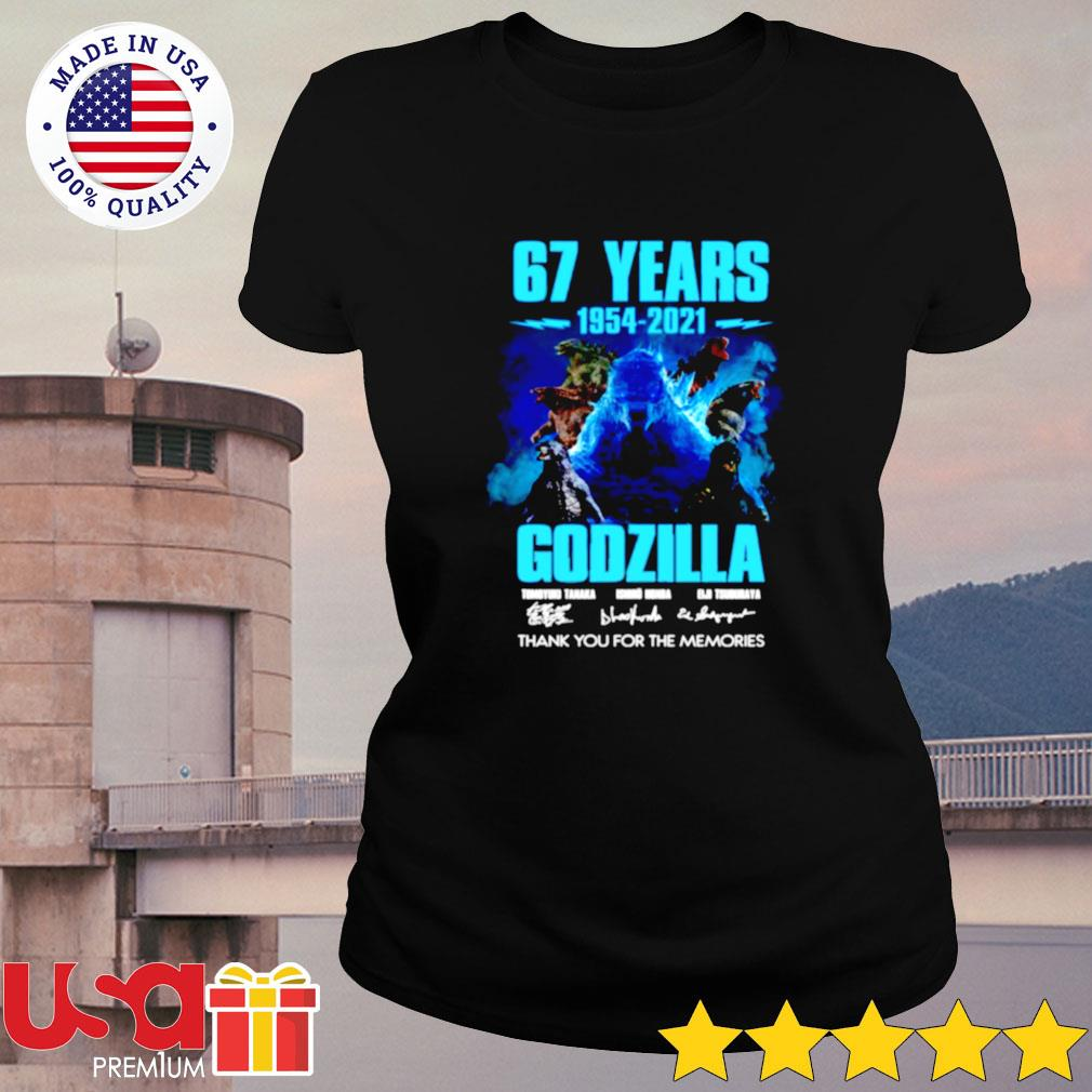 67 years 1954-2021 Godzilla thank you for the memories ladies-tee
