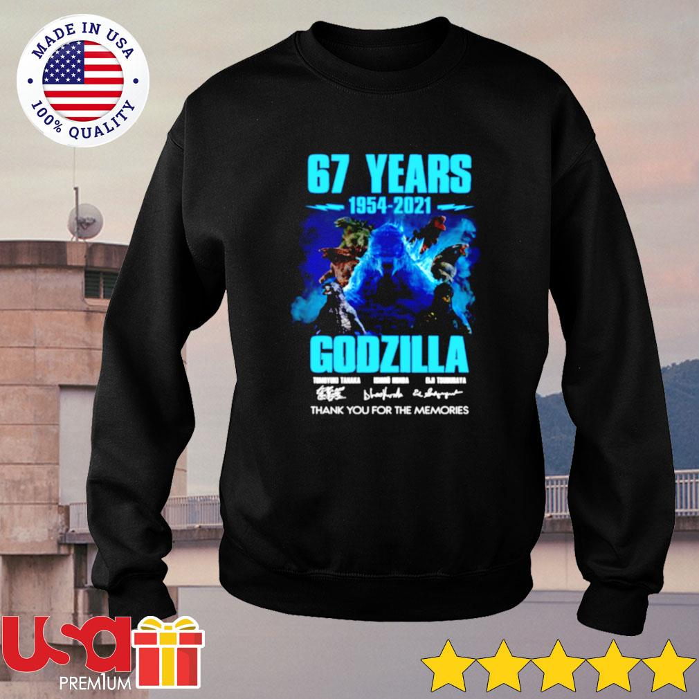 67 years 1954-2021 Godzilla thank you for the memories sweater