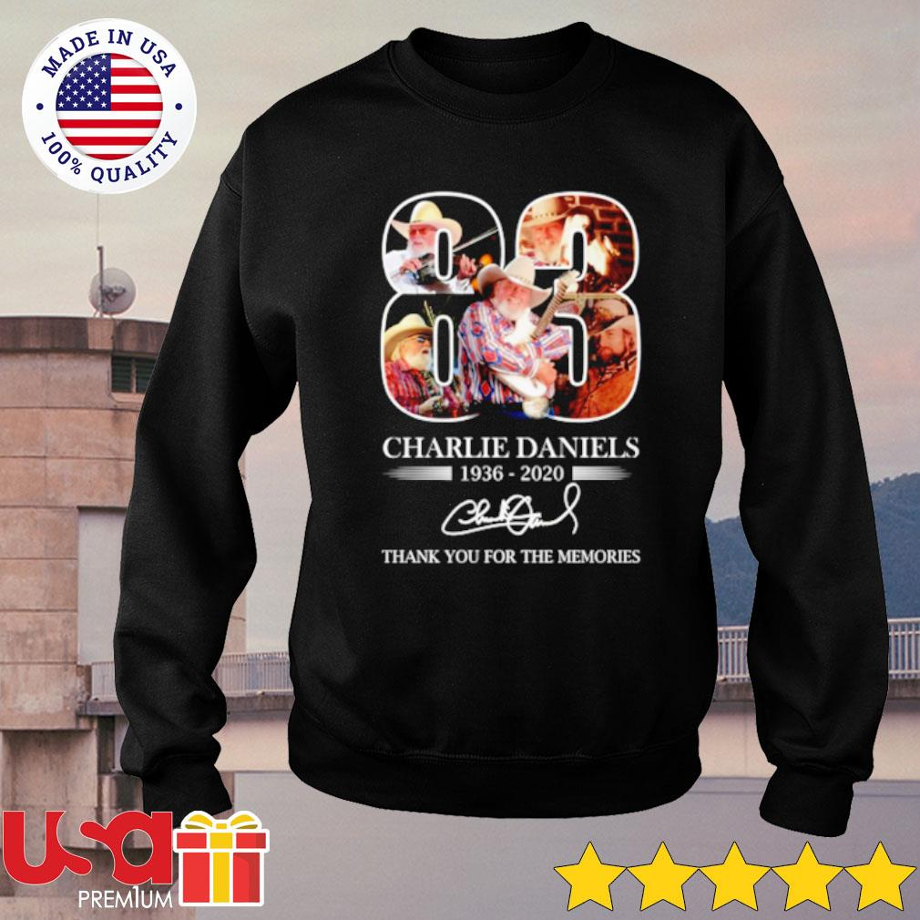 83 Charlie Daniels 1936 2020 Thank You For The Memories Signature Shirt sweater