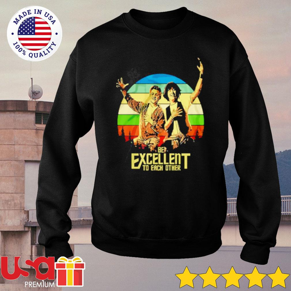 Bill and Ted's be excellent to each other s sweater