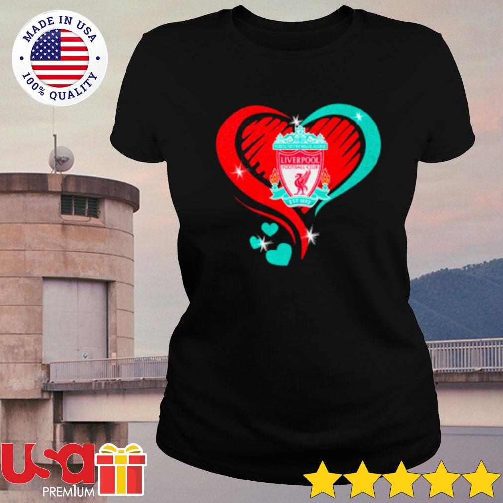 Heartbeat Liver Pool Football Cub Shirt ladies-tee