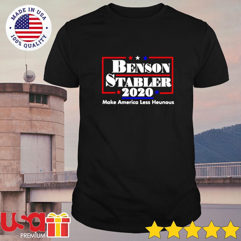Benson Stabler 2020 make America less heinous shirt