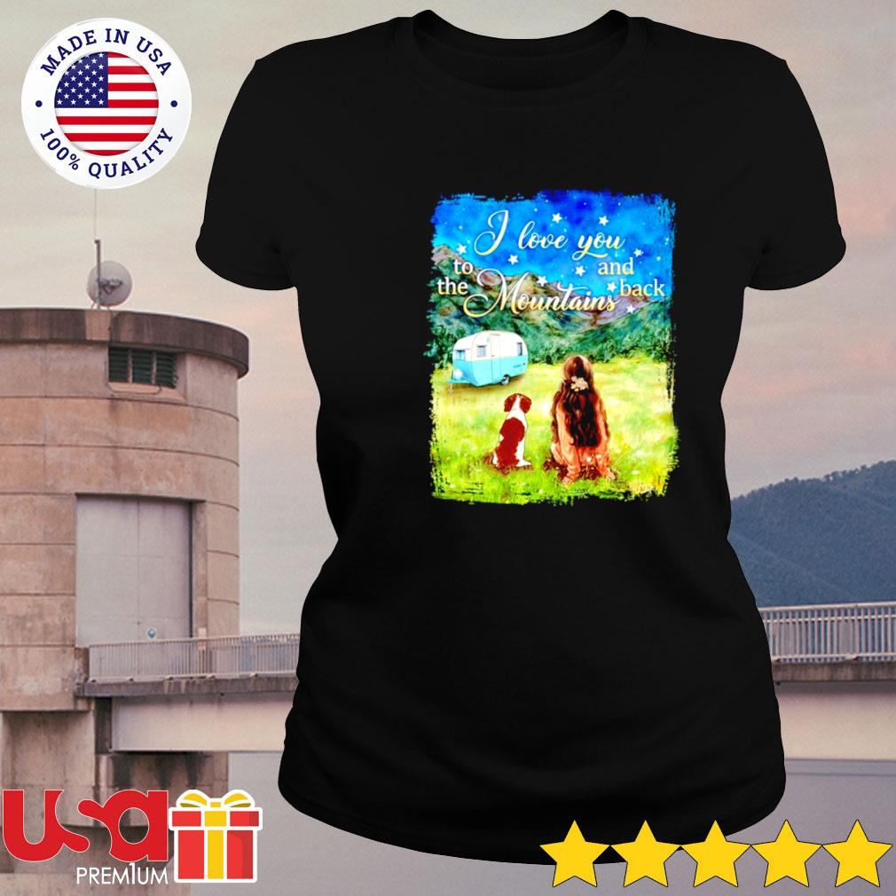 Camping I love you to the mountains and back s ladies-tee