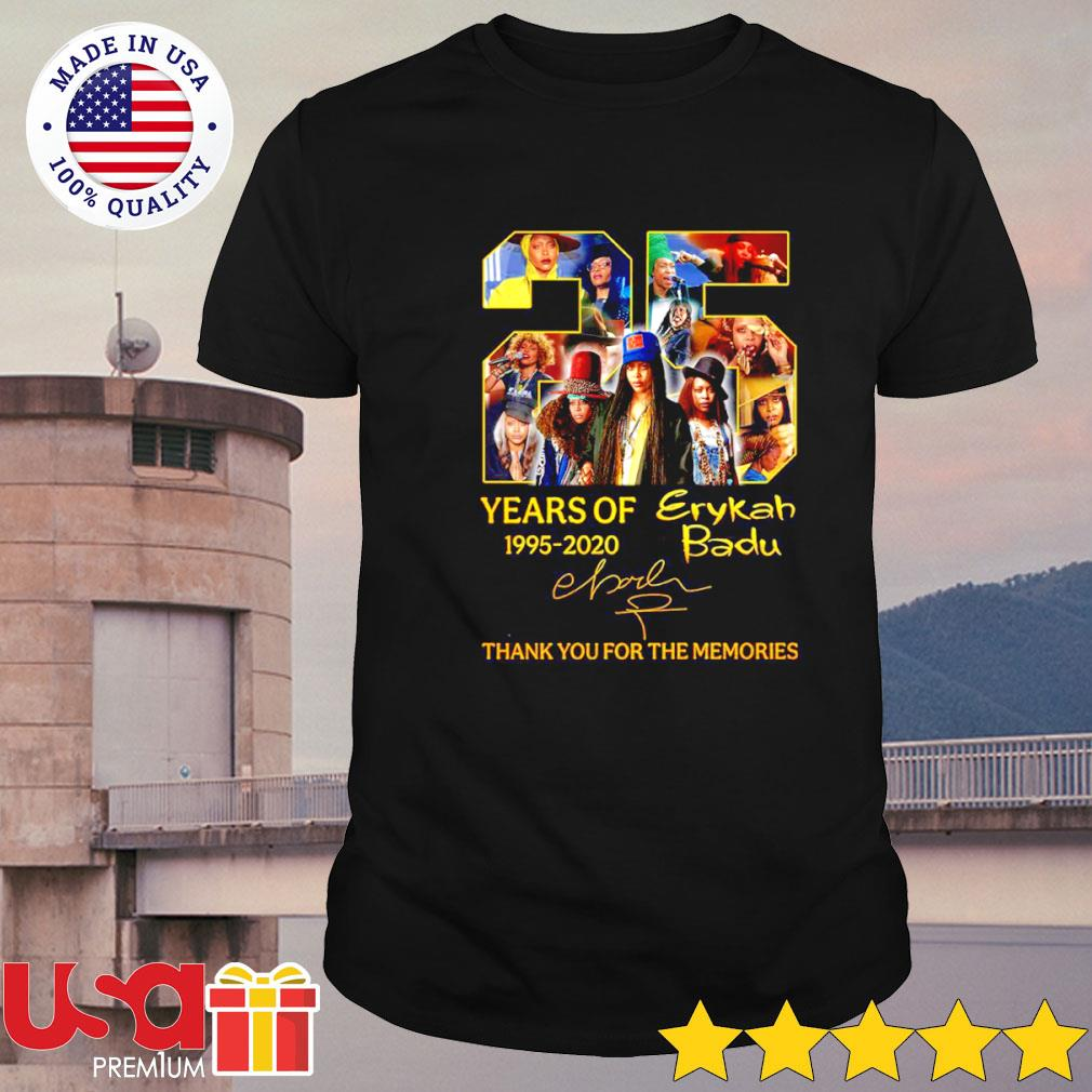 Erykah Badu 25th years of 1995-2020 signature thank you for the memories shirt