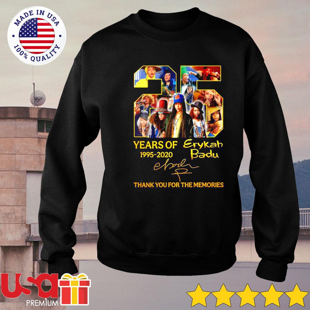 Erykah Badu 25th years of 1995-2020 signature thank you for the memories s sweater