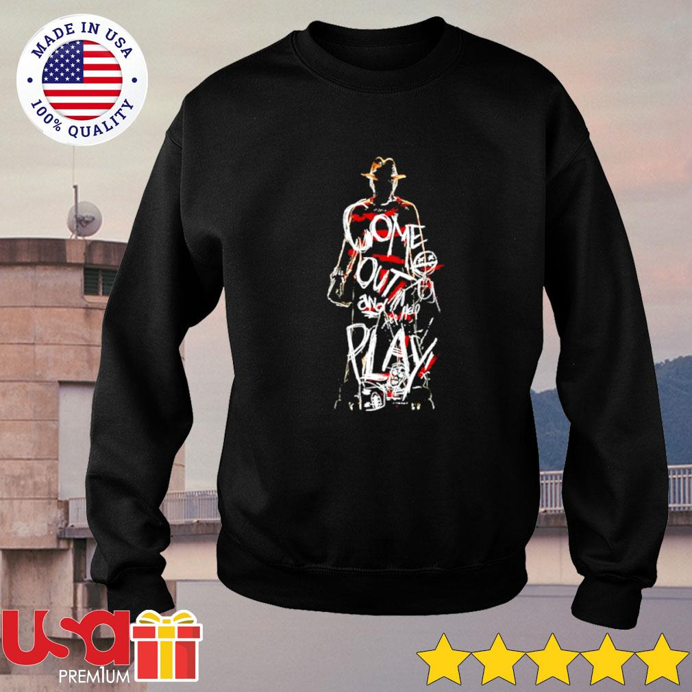 Freddy Krueger come out and play Halloween s sweater