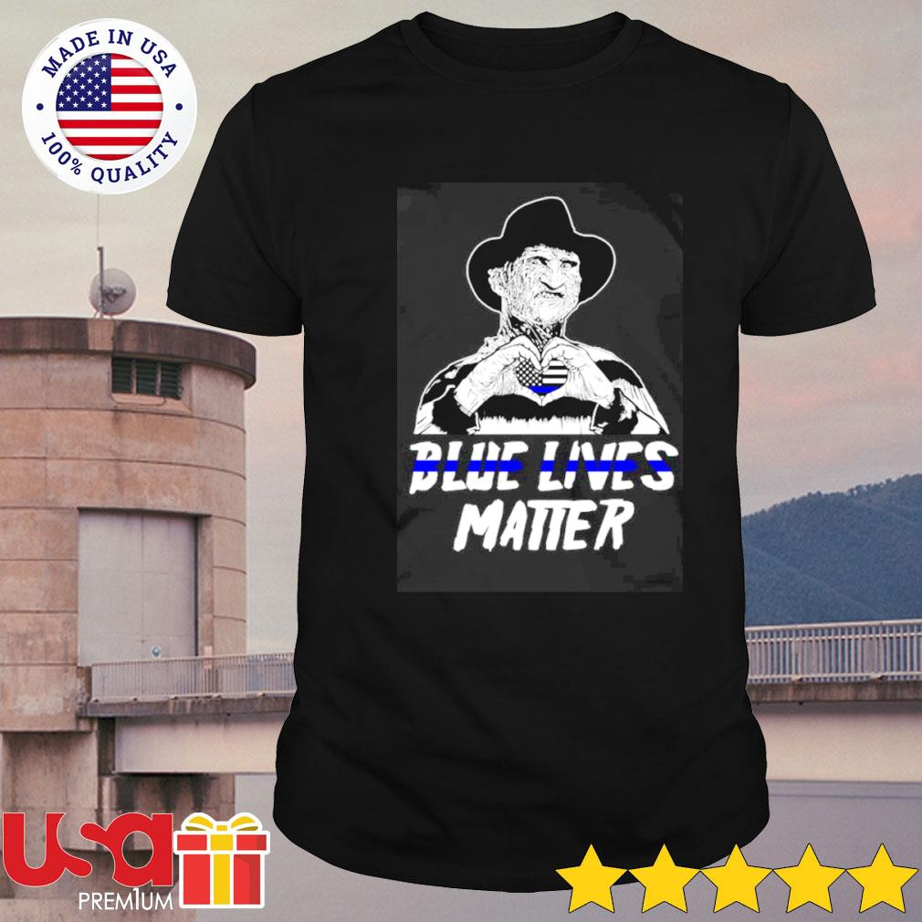 Freddy Krueger love blue lives matter shirt