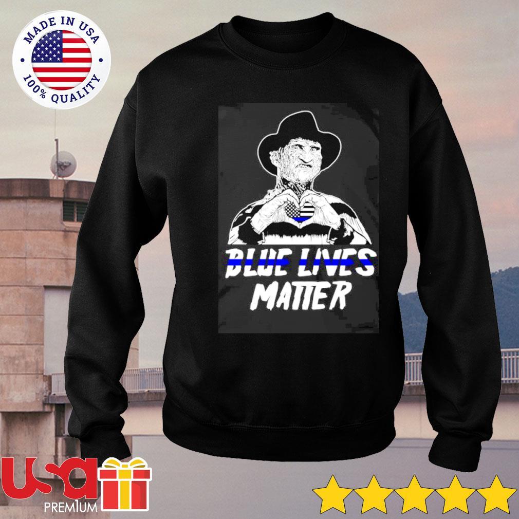 Freddy Krueger love blue lives matter s sweater