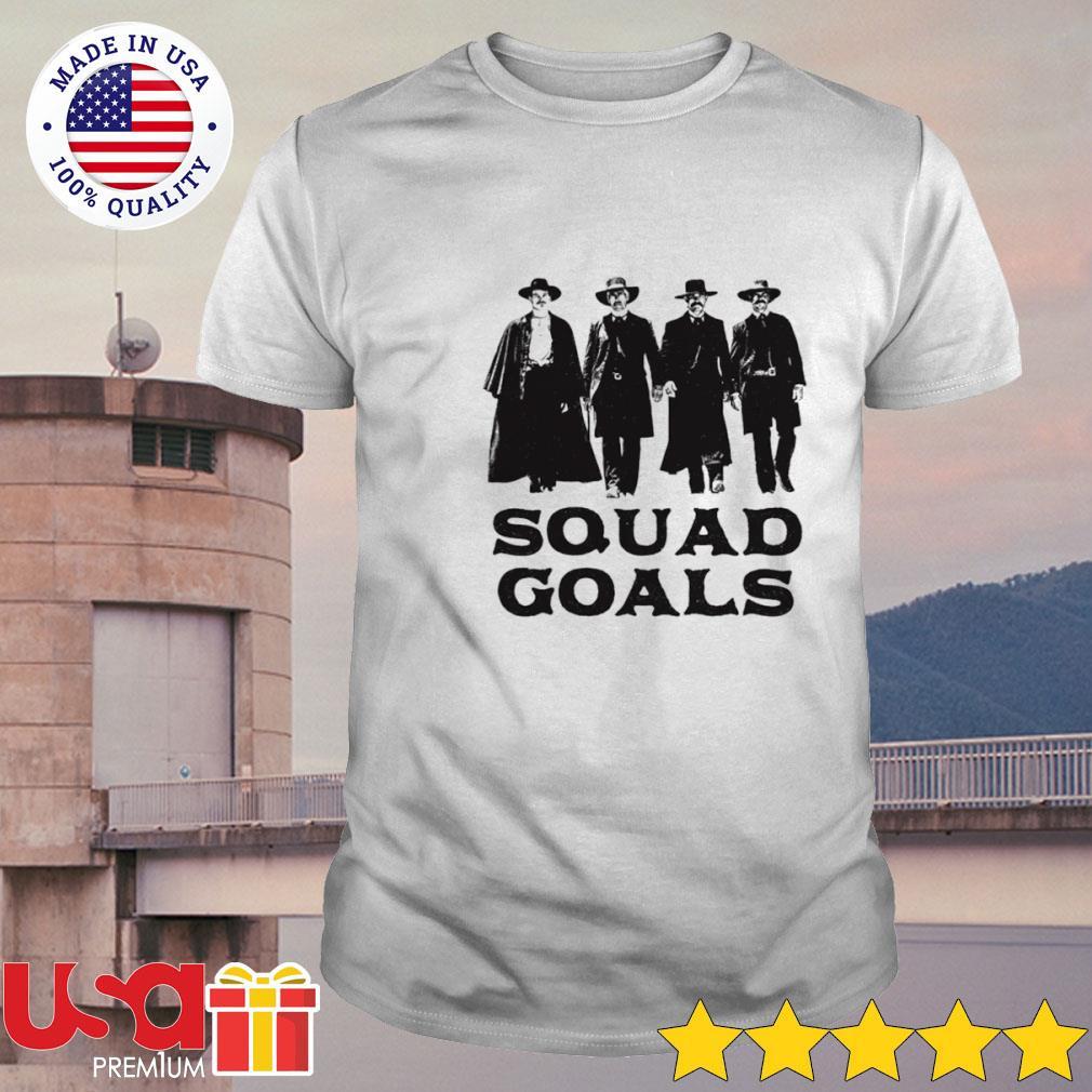 Tombstone Squad Goals version white black shirt