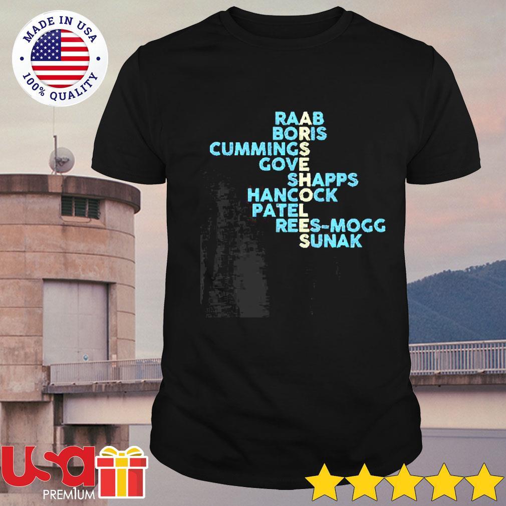 Arseholes Raab Boris Cummings Gove Shapps Hancock Patel shirt