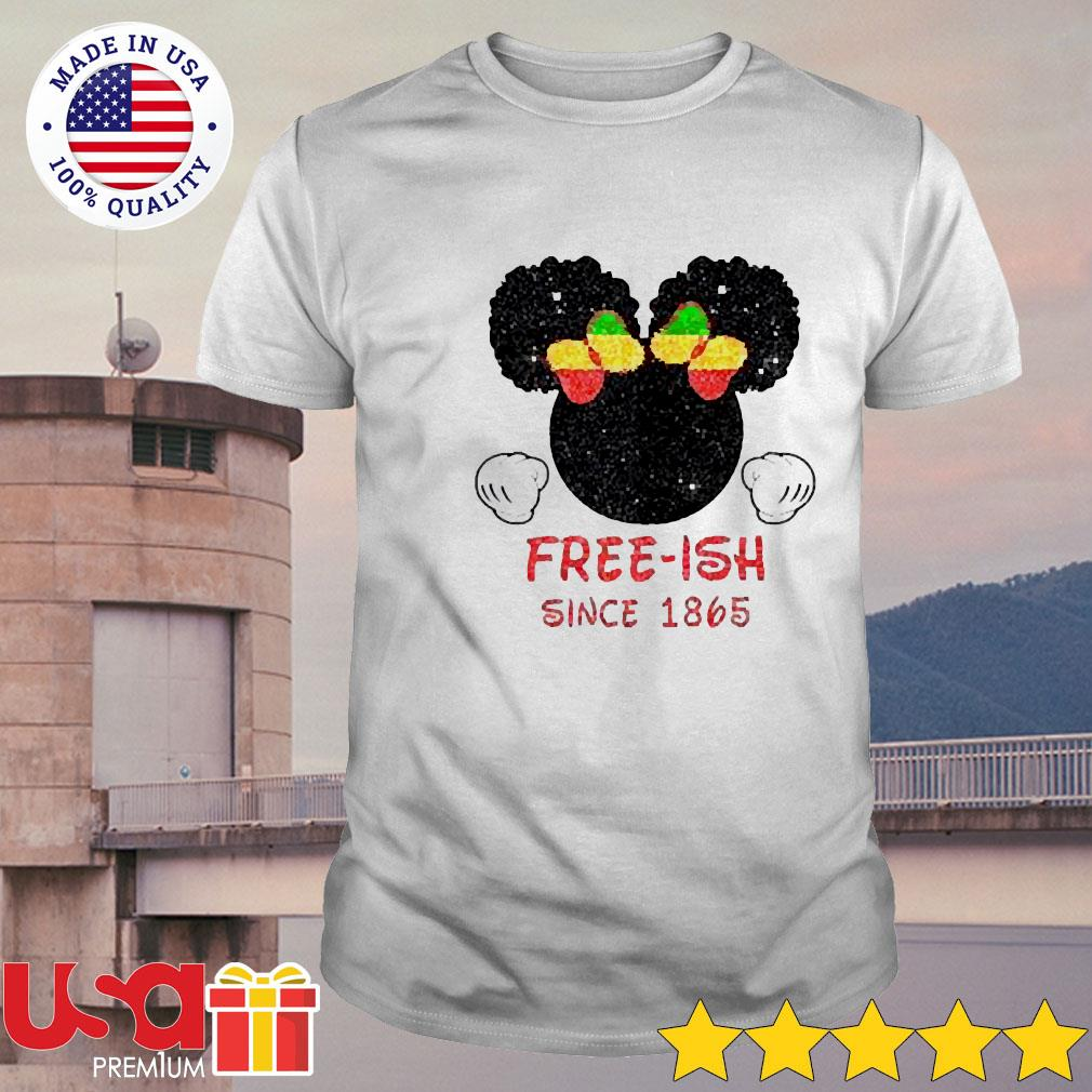 Disney Minnie Mouse Black free-ish since 1865 shirt
